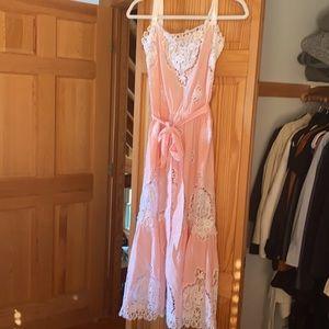 Gorgeous light pink/peach tone dress